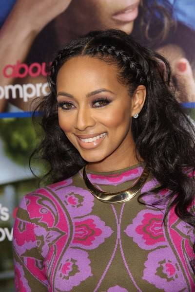 Keri Hilson black braided hairstyle