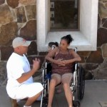 See wheelchair bound woman at library instantly healed