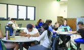 Student study at the new Kegley Center for Student Success on Oct. 17. Karina Diaz/The Runner
