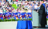 Spring 2016 commencement speaker Stephen Schilling delivers speech to the graduating class. Ben Patton/The Runner
