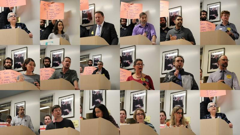 School faculty and Brookline residents urge school committee to expedite contract talks