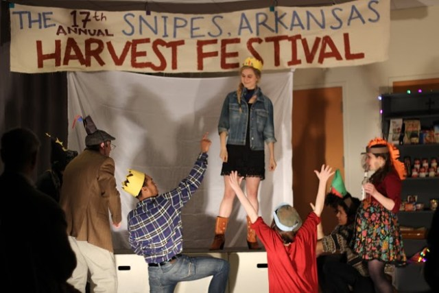 Annie Grove and the cast of The 17th Annual Snipes, Arkansas, Harvest Festival in last year's TRANSMIGRATION