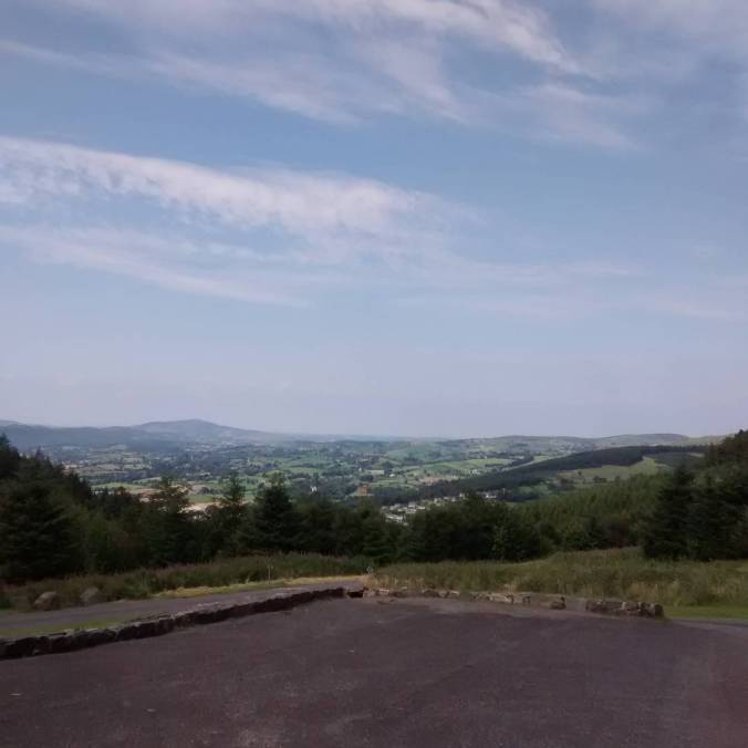 View from the top of Kilbroney Forest Park Its breezyhellip