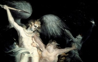 Henry Fuseli, (Detail) Satan encount'ring Death, Sin interposing (ca. 1793-96)