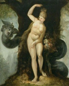 The Serpent tempting Eve (Satan's first address to Eve) (1802)