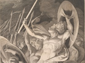 James Barry, (Detail) Satan and His Legions Hurling Defiance toward the Vault of Heaven (ca. 1792-94)