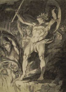 James Barry, Study for the etching Satan and His Legions Hurling Defiance toward the Vault of Heaven (ca. 1792-94)