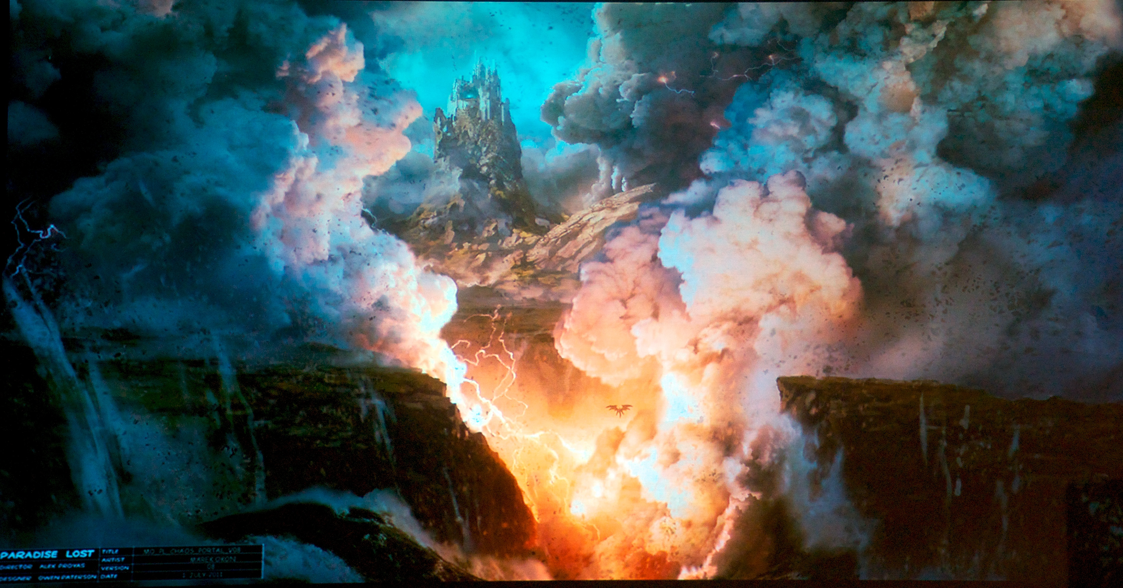 the paradise lost film chaos portal concept art for paradise lost by marek okon