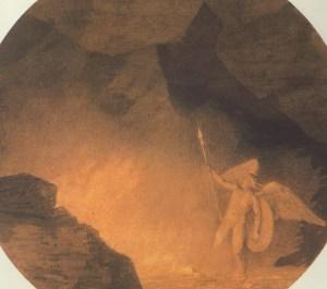 John Robert Cozens Satan Summoning His Legions (1776) 5