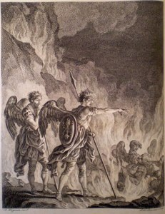 Simon Francois Ravenet, after Francis Hayman, Paradise Lost, Book I (1749)