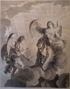 Simon Francois Ravenet, after Francis Hayman, Paradise Lost, Book III (1749)
