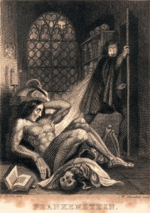Theodore Von Holst, Frontispiece to Mary Shelley's Frankenstein (1831)