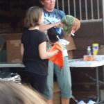 Vicki getting her Turtle award