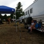 Vicki and Alexandra (a horse friend who only lives 1 town over) hanging out in the paddock with the horses