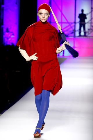 gaultier HOW TO WEAR RED FOR FALL 2010   The Sche Report / Margaret Sche