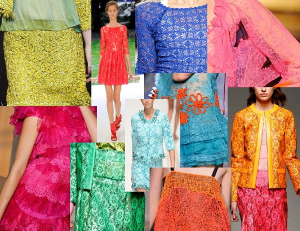 colored lace 1 1 SPRING/SUMMER 2011 TOP TEN TRENDS:  #10 LACE   The Sche Report / Margaret Sche