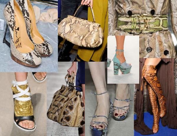 snakeskin accessories 11 SPRING/SUMMER 2011 TOP 10 TRENDS: #9 PREDATOR PRINTS   The Sche Report / Margaret Sche