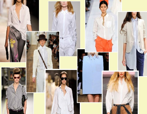 boyfriend   shirt 1 SPRING/SUMMER 2011 TOP 10 TRENDS:  #2 THE SHIRT   The Sche Report / Margaret Sche