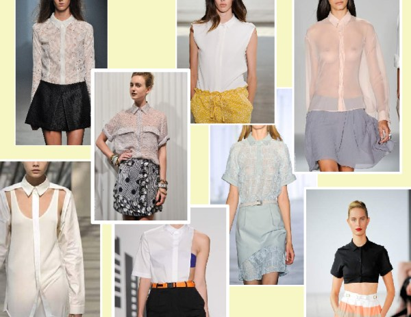 button up   shirt 1 SPRING/SUMMER 2011 TOP 10 TRENDS:  #2 THE SHIRT   The Sche Report / Margaret Sche