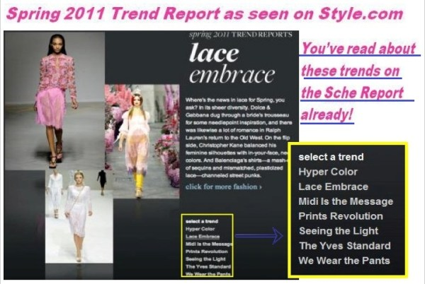 style com WE SAW IT FIRST!   TREND VALIDATIONS   The Sche Report / Margaret Sche