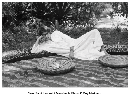 19 yves lounging from press kit  YSL AND MOROCCO:  A RELATIONSHIP OF LOVE   The Sche Report / Margaret Sche