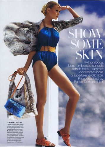 24 WE SAW IT FIRST! TREND VALIDATION: SUMMER SNAKESKINS   The Sche Report / Margaret Sche