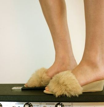 beige fur slip on 5 KEY ITEMS FOR FALL 2011: GET THE LOOK   The Sche Report / Margaret Sche