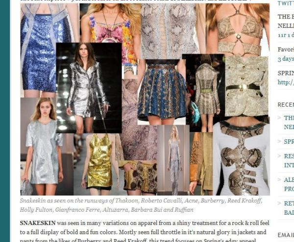post snap 3 WE SAW IT FIRST! TREND VALIDATION: SUMMER SNAKESKINS   The Sche Report / Margaret Sche