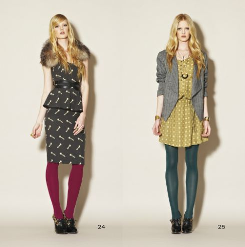 clc fall 7 FALL 2011 TREND ALERT: COLORED TIGHTS   The Sche Report / Margaret Sche