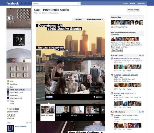 facebook screen grab GAP 1969 LOS ANGELES DESIGN STUDIO   The Sche Report / Margaret Sche