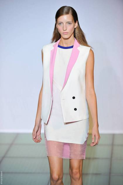 costume national cos ps12 002 SPRING 2012 KEY ITEM:  THE BLAZER VEST   The Sche Report / Margaret Sche