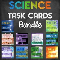 Science Task Cards Options and Bundle