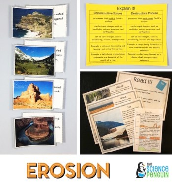 Weathering, Erosion, and Deposition Science Stations Unit
