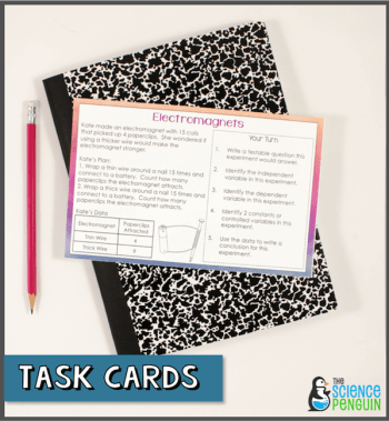Experiment Task Cards: 90 questions on 18 cards. Awesome practice!