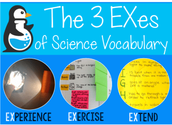 The 3 EXes of Science Vocabulary: Experience, Exercise, Extend