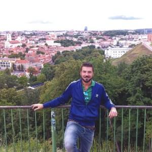 Gios on top ov Vilnius Baroque centre