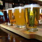 A Flight of Golden Road Brews