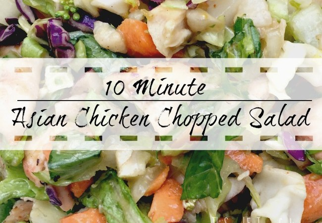 10 Minute Asian Chicken Chopped Salad