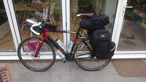 Bike loaded and ready to go