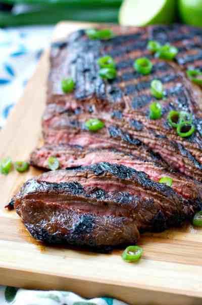 Mom's Easy Marinated Flank Steak - The Seasoned Mom