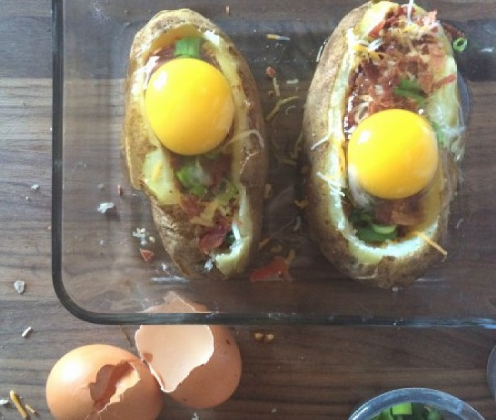 Loaded Baked Potato Breakfast Bowls