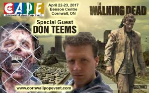 Walking Dead zombie actor Don Teems guest at CAPE