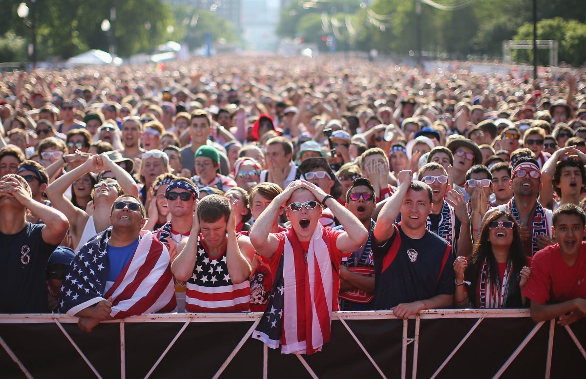 ***BESTPIX*** Soccer Fans Gather To Watch U.S. Play Portugal In World Cup Match