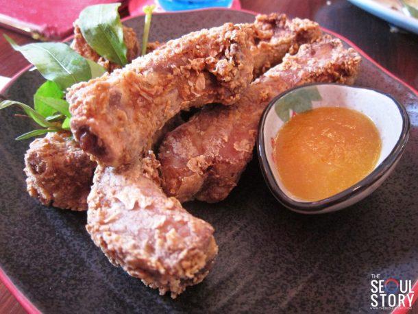 nan ru pork ribs with apricot sauce
