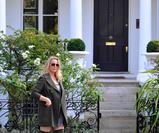 M&S olive green coat and boots