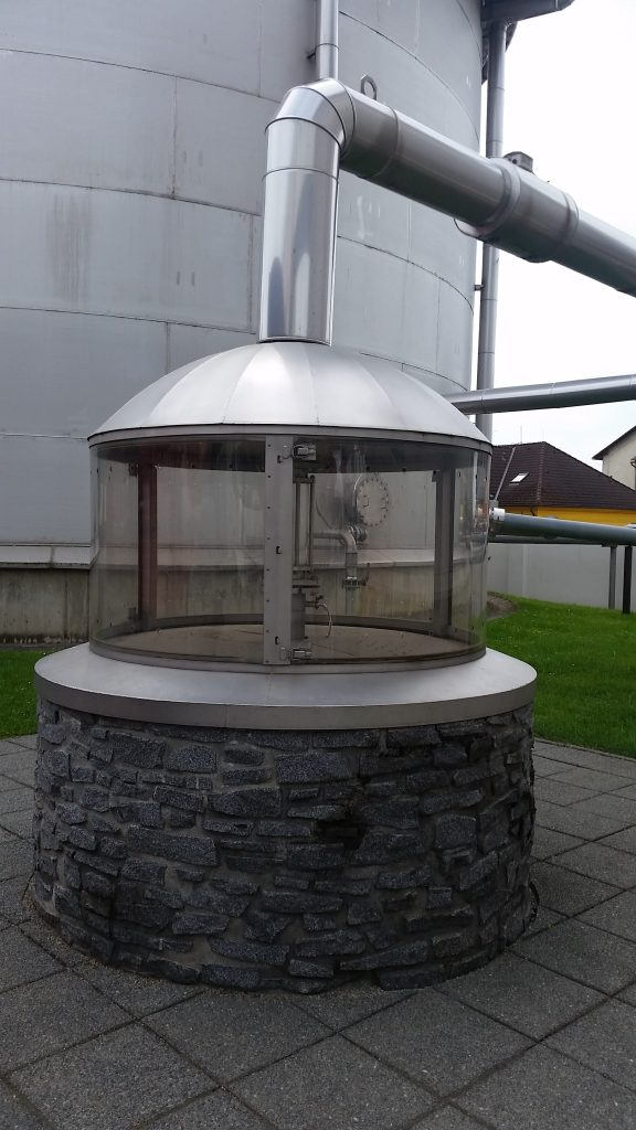 One of the two wells used by Budweiser Budvar Brewery to pump water from the ground. The water is then used in the brewing process.