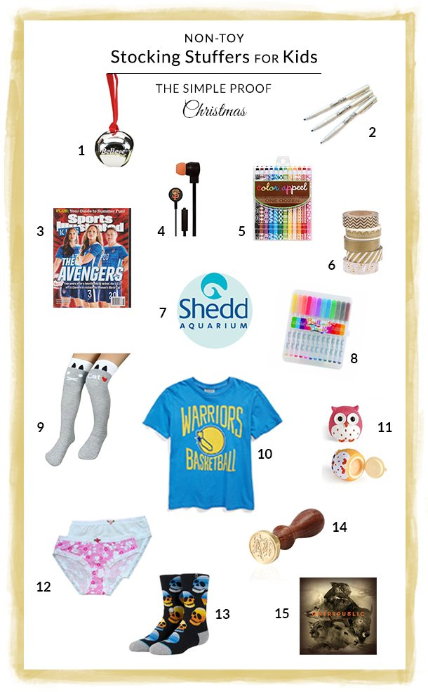 Non-Toy Stocking Stuffers for Kids