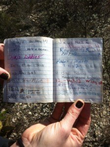 "There is a logbook inside for the finder to sign.  There is also a digital version of this on the geocache website where you can report problems or say thanks to the ""owner"" which is the person who placed the cache"