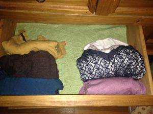 Pared down shirt drawer