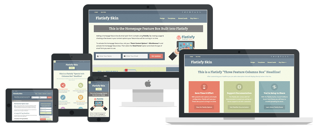Flatisfy Skin Responsive Mock-Up
